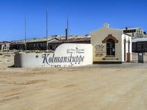 Spökstad Kolmanskop, Namibia öken Arkivbild
