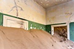 Spökstad Kolmanskop, Namibia Arkivbilder