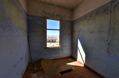 Spökstad Kolmanskop, Namibia Royaltyfria Bilder