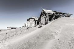 Spökstad Kolmanskop, Namibia Arkivfoto