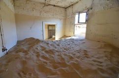 Spökstad Kolmanskop, Namibia, Afrika arkivbild