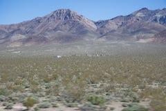 Spökstad Nevada öken Arkivfoto