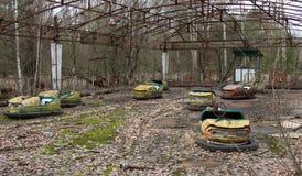 Spökstad Pripyat i Tjernobyl royaltyfri bild