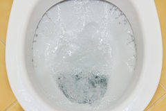Spülung der Toilettenschüssel Lizenzfreie Stockbilder