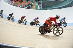 Spüren Sie das Radfahren an den 2016 Olympics im Park auf Lizenzfreie Stockbilder