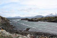 Spürhund-Kanal, Ushuaia Lizenzfreie Stockfotos