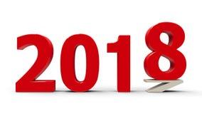 2017-2018 spłaszczający ilustracja wektor