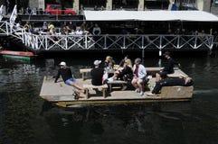 Spławowa łódź Zdjęcie Royalty Free