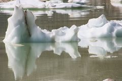 Spławowa góra lodowa i odbicie zdjęcie stock
