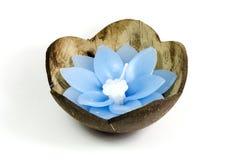 Spławowa kwiat świeczka obraz stock