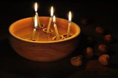 Spławowe świeczki Obrazy Royalty Free
