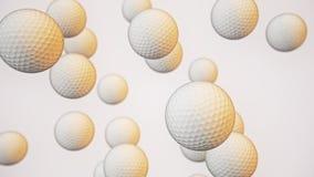 Spławowe piłki golfowe Przeciw bielowi ilustracja wektor