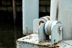 Spławowego doku słup zdjęcie stock