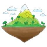 Spławowej wyspy halny doodle royalty ilustracja