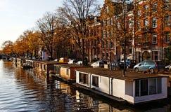 Spławowi Amsterdam Domy zdjęcie stock