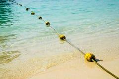 Spławowy żółty buoyancy dla zbawczego dopłynięcia dla turysta strefy obrazy royalty free