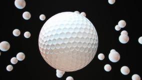 Spławowy GolfBall Przeciw czerni ilustracji
