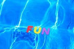 spławowy zabawy basenu dopłynięcia słowo Obrazy Stock