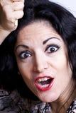 spännande ståendekvinna fotografering för bildbyråer