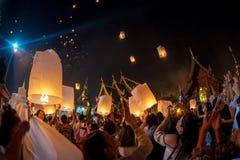 Spławowa lampa na niebie Fotografia Stock