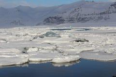spławowa lodowa góra lodowa jokulsarlon laguna Obraz Royalty Free