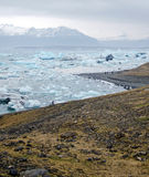 spławowa lodowa góra lodowa jokulsarlon laguna Obraz Stock
