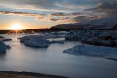 spławowa lodowa góra lodowa jokulsarlon laguna Fotografia Royalty Free