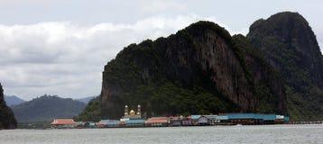 Spławowa wioska Phuket Tajlandia Zdjęcie Stock
