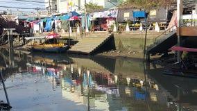 Spławowa wioska Tajlandia Obraz Royalty Free