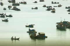 Spławowa wioska w Mekong delcie Zdjęcie Stock