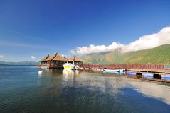 Spławowy kurort w Kintamani, Bali Fotografia Stock