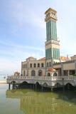 Spławowy meczet Pulau Pinang Obrazy Royalty Free