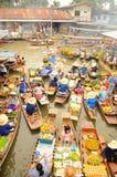 Spławowy rynek, Amphawa, Tajlandia Fotografia Stock