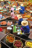 Spławowy rynek, Amphawa, Tajlandia Zdjęcia Stock