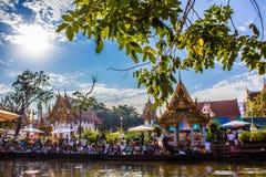 Spławowy rynek przy Bangkok Obrazy Royalty Free