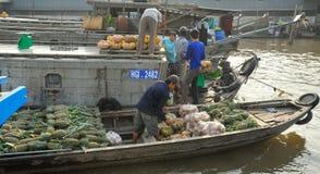 Spławowy Targowy Ho Chi Minh Zdjęcie Stock