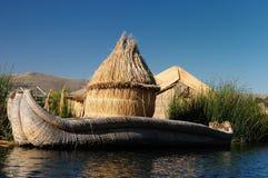 spławowych wysp jeziorni Peru titicaca uros Obraz Stock