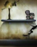 spöklik voodoo för docka Arkivfoto