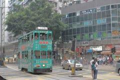 8 sp?rvagn HK April 2014 f?r dubbel d?ckare fotografering för bildbyråer