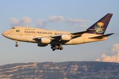 747SP van Saoediger - Arabische Overheid Royalty-vrije Stock Foto's