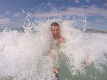 Spaß in aegen Meer Tropisches Wasser in Ägypten Stockfotos