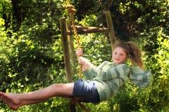 Spaß auf den Seilen Stockfoto