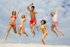Spaß auf Sand Lizenzfreies Stockfoto