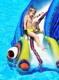 Spaß auf Wasserplättchen Lizenzfreies Stockfoto