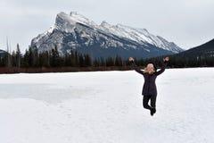 Spaß in Banff Lizenzfreie Stockfotos