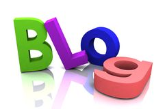 Spaß-Blog Stockfoto