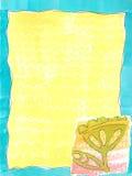 Spaß-Blumen-Schablone Stockfotos