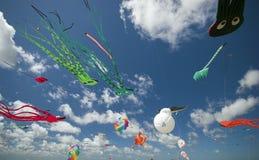 Spaß in der Luft, ganz vorbei Stockbild