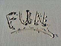 Spaß in der Sonne am Feiertag am Strand Stockbild