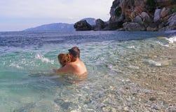 Spaß im Meer stockfotos